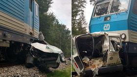 Tragická srážka s vlakem: Na Rychnovsku ji nepřežili dva lidé!