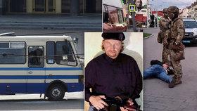 Muž s výbušninou unesl autobus s 20 lidmi. Prezident splnil požadavek, ozbrojence zadrželi