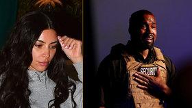 Kim Kardashianová se hroutí z duševní poruchy Kanyeho Westa: Bude rozvod!