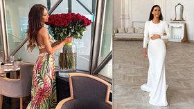 Eliška Bučková slaví 31. narozeniny! Od koho dostala nádherný pugét rudých růží?