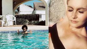 Exministryně v odvážných plavkách a Feri ponořený v bazénu. Politici si užívají dovolené