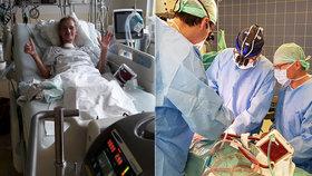 Matka holčičky (2) měla pověšenou plíci na hrudi: Po 143 dnech ji v Praze operovali