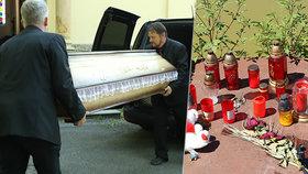 Tiché rozloučení bez proslovů: Rodina pohřbila Radka, Martina a Radečka (†9), které zabilo čerpadlo