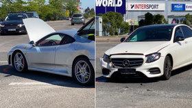 Drahá autonehoda známého právníka: Do jeho luxusního ferrari naboural mercedes!