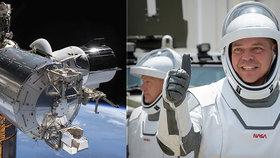 Vrchol historické mise. Loď SpaceX se s astronauty vrátila domů, expert přílet komentoval