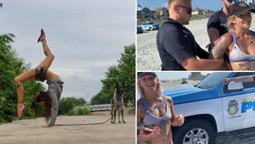Známou akrobatku na pláži zadrželi policisté: Vadily jim její tanga!