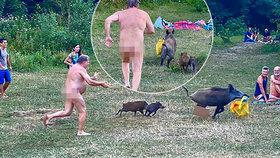 Kanec okradl nahého muže: Pronásledoval ho přes celou pláž!