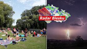 Silné bouřky, lijáky a kroupy hrozí v pátek v celém Česku, sledujte radar Blesku