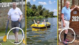 Zemanova plavba na člunu a výlet kprameni: Otazníky kolem letní dovolené prezidenta