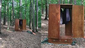 Skříň uprostřed lesa strhla lavinu komentářů! Vchod do Narnie i úkryt před medvědem, fantazírují lidé!
