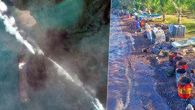 Tyrkysová voda v dovolenkovém ráji zčernala. Mauricius ničí palivo z uvázlé lodi