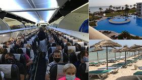 Češi v Tunisku: Prázdné pláže potěší, turisty čekají roušky, měření a formuláře