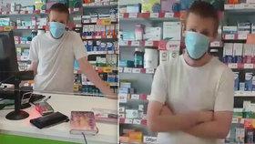 Pražský lékárník odmítl dát léky ženě bez roušky. Vše si natočila, zastání nenašla