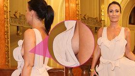 Partyšová neuhlídala odvážné šaty a její ňadra prozářila vernisáž! A proč tají přítele?!