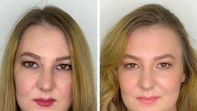 To je ale rozdíl! Jak to vypadá, když se ženy líčí samy, nebo když se svěří do rukou vizážistky?