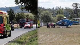 Dvě vážné nehody na jihu od Prahy: Dívku zavalil kůň, cyklista zemřel po srážce s autem