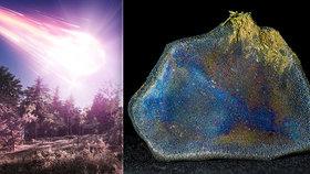 Duhový meteorit prorazil střechu rodinného domku: Obsahuje látky vhodné pro vznik života?