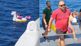 Drama v dovolenkovém ráji: Proud odnesl holčičku (4) s nafukovacím jednorožcem na otevřené moře