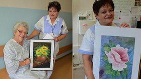 Sestřička Gabriela pro pacienty maluje obrazy: Pomáhají s rehabilitací, říká
