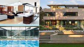 Tenhle luxus stojí na Hanspaulce! Z vily za 300 milionů je vidět na Hrad, má prosklené patro i vnitřní bazén