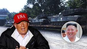 """Trump se vidí dál v Bílém domě, inspiroval se u """"kamaráda"""" Kima: Tanky při inauguraci"""