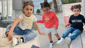 Máma obléká holčičku (2) jako princeznu: Malá modelka zná jen oděvy Gucci a Versace