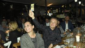Milovníci umění Šporcl s Kodetovou: Při téhle aukci jim šlo o hodně!