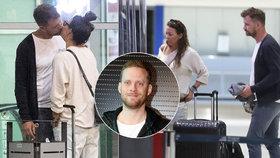 Rozvádějící se Agáta na letišti: Žhavé polibky s novým přítelem!