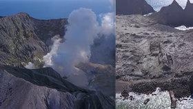"""""""Je totálně zničený, je to děsivé."""" První snímky ostrova, kde erupce zabila 21 lidí"""