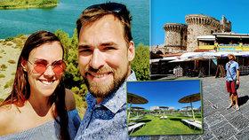 David a Terezie strávili líbánky na Rhodosu: Švédské stoly zmizely, hotely jsou poloprázdné