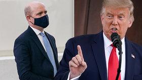 """Trumpa """"otrávil"""" reportér. Prezident chtěl, aby si sundal roušku, novinář ale odmítl"""