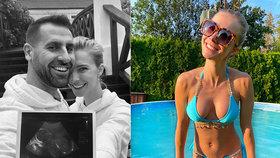 Krásná modelka Tereza Jelínková je těhotná: Šest měsíců a stále ploché bříško!