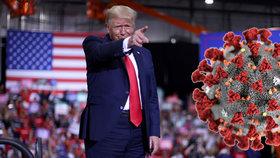 Trumpův mítink uprostřed pandemie: Tisíce lidí pod střechou, žádné roušky ani rozestupy