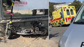 Záchranáři se na Prosecké srazili s motokoloběžkou: Její řidič byl pod vlivem drog!