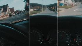 Zlatá mládež se znovu předvedla: Tomáš jel ve zlatém BMW obcí jako šílenec!