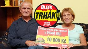 Jiří Štrobl (67) měl vítězné tušení a v Trháku získal 10 tisíc Kč: Zaplatí opravu auta!