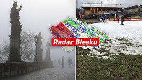 Do Česka se přihnal vydatný déšť, přijde i první sníh. Platí výstraha, sledujte radar Blesku
