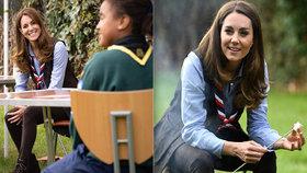 Kate Middletonová překvapila u ohně: Mrkejte, co si napíchla na klacík!