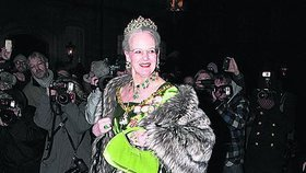 Margrethe II. na novoroční recepci v Kodani