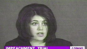 Monica Lewinsky vypovídá v procesu vedeném proti prezidentu Clintonovi