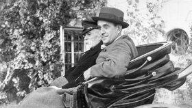 """Jan Masaryk se svým otcem, """"tatíčkem"""" T. G. Masarykem"""
