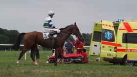 Tragédie na dostizích v Pardubicích: Jezdkyni zavalil kůň, nehodu nepřežila