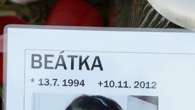 Vzpomínka na starší z tragicky zesnulých sester Beatu