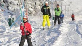 V Olomouckém kraji spustili o víkendu první lyžařské vleky v Branné na Šumpersku