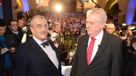 Karel Schwarzenberg a Miloš Zeman během předvolebního duelu