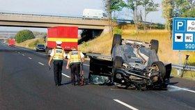 Autonehoda se odehrála na maďarské dálnici.