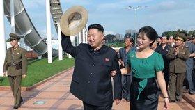 Diktátor Kim Čong-un s manželkou Ri Sol-ču