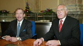 Kamarádství Václava Havla a Václava Klause se v polistopadové době nehodilo.