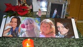 Zleva: Beátka, Klárka, Natálka a Karolínka zahynuly při tragické nehodě na rallye v Lopeníku.