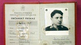 Občanský průkaz Jana Palacha